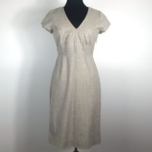 J. Crew Oatmeal Wool Blend Sheath Dress Size 6